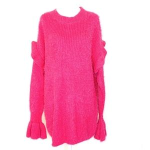 WOVEN HEART Women's M Ruffled Long Sleeve Sweater